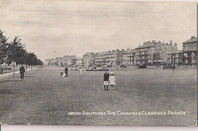 Lovely Old Postcard - Common & Clarence Parade - Southsea - Hampshire C.1912