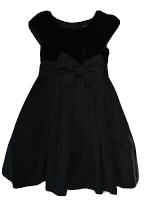 Girls Black Crushed Velvet netted Dress From Next Age 4 To 5 Years