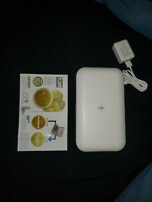 Phone Soap UV Sanitizer And Phone Charger Lori Greiner White