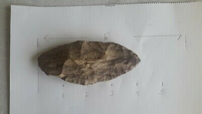 Prehistoric Knife Blade Hand ToolUSA Native Neolithic~Paleolithic Tn. River Find