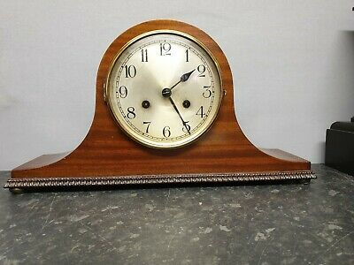 Vintage Smiths Napoleon Hat 8 Day Mantle Clock with Ting Tang Strike