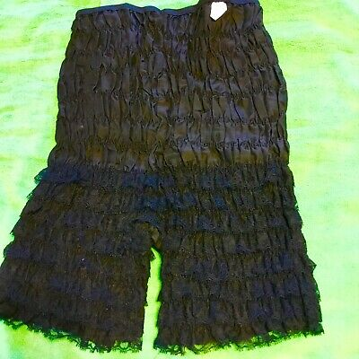 Malco Modes Partners Please Black Polyester/cotton Lacy Square Dance Panties