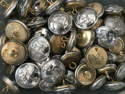 "Vintage British Fire Brigade Fire Service Large Chrome 1"" Buttons Approx. 60"