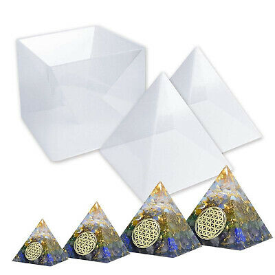 DIY Orgonite Jewelry Orgone Pyramid Large Resin Silicone Molds Plastic Frame
