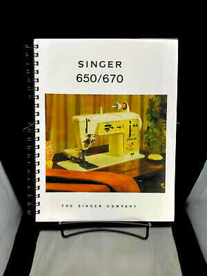 Singer 650 670 Golden Panoramic Sewing Manual Instructions User Guide Reprint