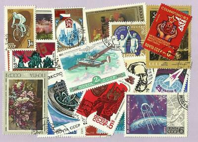 50 Russia USSR Stamps All Different - Includes Large and Medium Stamps Only