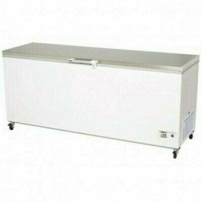 Bromic Flat Top Stainless Steel 675L Chest Freezer