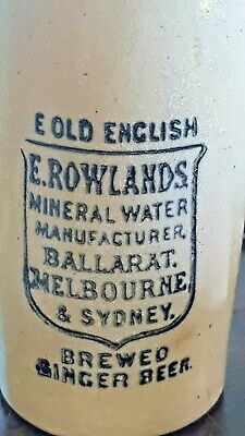 """Rowlands Ginger beer RARE """"E"""" old English not""""YE"""""""