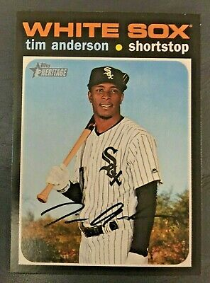 2020 Topps Heritage #436 Tim Anderson SP Short Print