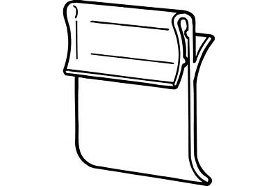 Friction Shelf Clip-Gondola Sign Holders- 100 LOT