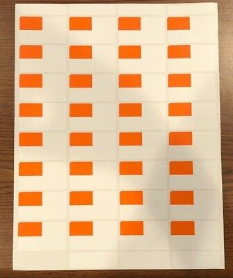 Self-Adhesive Price Labels Stickers/ Tags Retail Supplies 320 LOT White/Orange