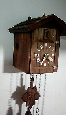 Antique one day cuckoo clock modified