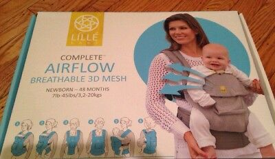 LILLEbaby Complete Airflow Baby Carrier - Anchors Blue - Breathable 3D Mesh New