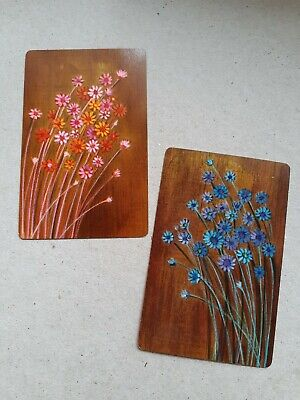 playing cards swap. Two cards, pink / blue flowers.