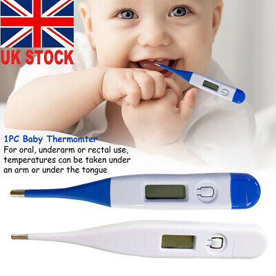 LCD Digital Thermometer Human Health Fever Check Alarm for Adults Children Baby%