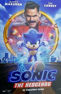 Sonic the Hedgehog B (2020)  Movie Poster Double Sided 27x40 Original