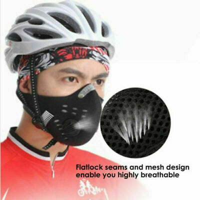 Bike Outdoor Cycling Anti-dust Half Face Cover With Filter Fitness UK