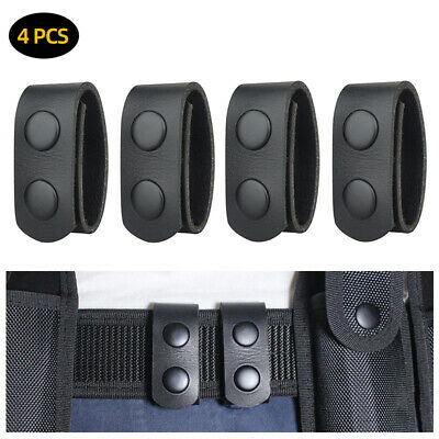 4Pcs Double Snap Belt PU Leather Duty Keepers for 2 inch Concealed Carry Belt UK
