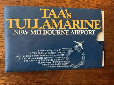 1972 TAA Trans Australia Airlines Tullamarine new airport tickets voucher lot