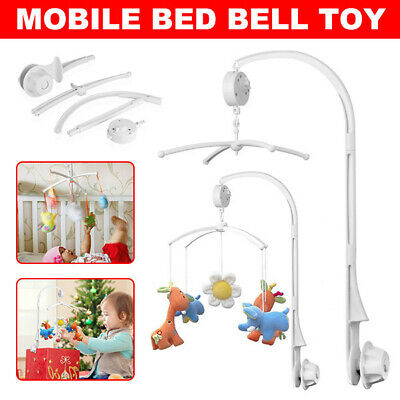 Baby Mobile Crib Bed Bell Toy Holder Arm Bracket Wind-up Auto Music Box DIY Gift
