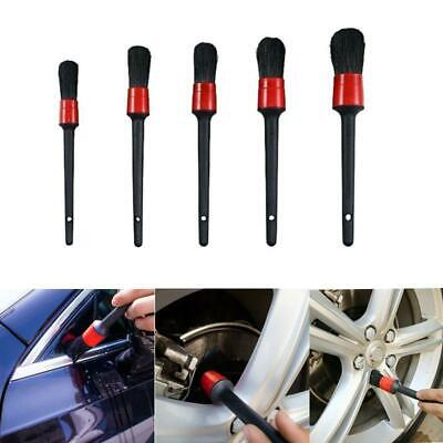 5x Car Detailing Brush Kit Auto Car Interior Cleaning Set For Wheel Clean Set