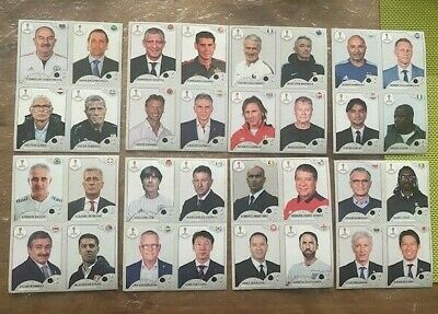 Panini WM 18 RUSSIA WORLD CUP Stickers EXCLUSIVE TEAM MANAGERS x 32 UPDATES