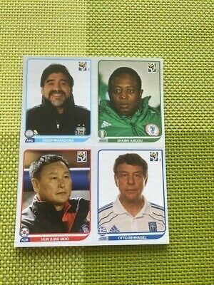 Panini WM 10 AFRICA WORLD CUP 2010 Stickers EXCLUSIVE TEAM MANAGERS x 32 UPDATES