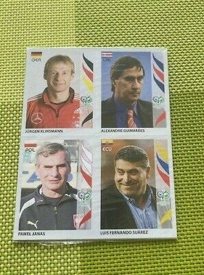 Panini WM WORLD CUP 2006 GERMANY Stickers EXCLUSIVE TEAM MANAGERS x 32 UPDATES