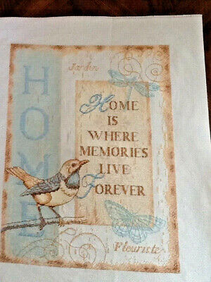 Handmade Completed Unframed Cross Stitch - Home