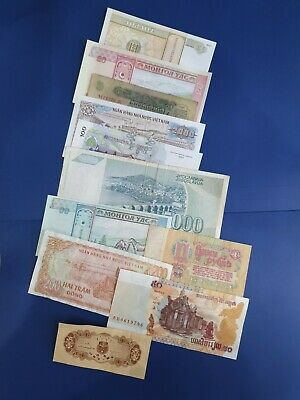 old 11 Bank Note Currency Money some UNC lot bundle mix world collector a 20 🧐