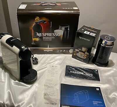 NESPRESSO MAGIMIX ESSENZA MINI & AEROCCINO3 COFFEE MACHINE -Warranty And Receip