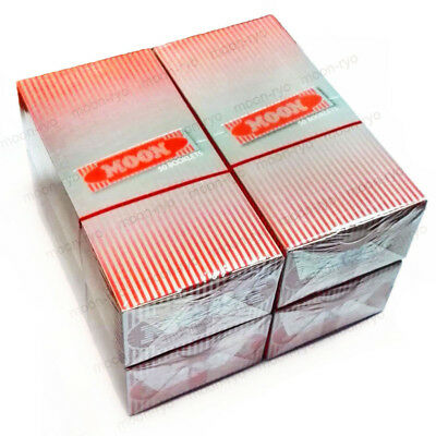 4 Boxes 1.0 inch Moon Red Cigarette Tobacco Rolling Papers 200 booklets 70*36mm