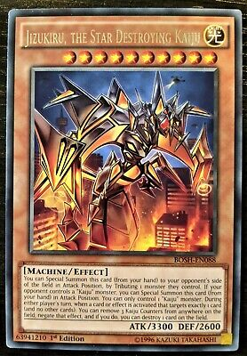 YuGiOh Jizukiru, the Star Destroying Kaiju Rare BOSH-EN088 1st Edition NM