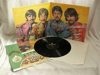 THE BEATLES SGT PEPPER 1st UK PRESS MONO PATENTS PENDING COVER SUPERB MINT AUDIO
