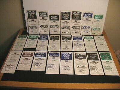 Penn Central Railroad Timetable Lot Of 41 1968 1969 1970 1971 1972 1974