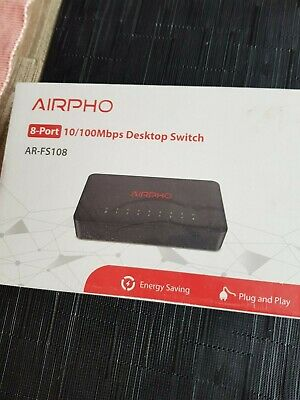 Hub / Switch - 8 port 10/100Mbps Desktop Switch Airpho