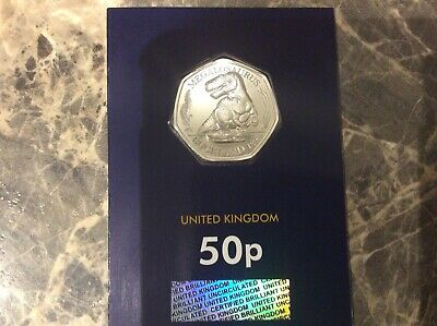 **2020 Megalosaurus Dinosaur 50p Fifty Pence Coin Brilliant Uncirculated **