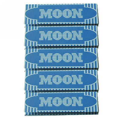 """5×50 sheets 70mm 1.0"""" inch Moon Blue Cigarette Tobacco Rolling Papers"""