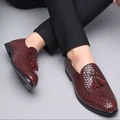 Mens Casual Driving Loafers Dress Formal Oxford Pu Leather Shoes Business Plus S
