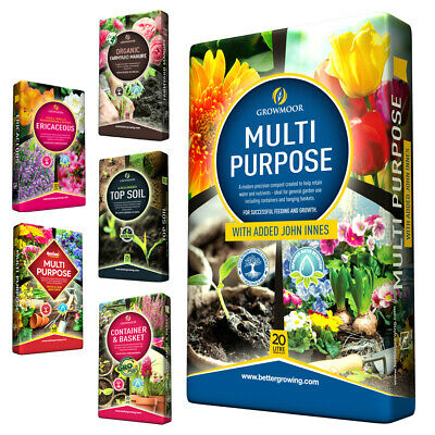 Growmoor Multi Purpose Garden Compost, Planting & Top Soils | Home Delivery UK