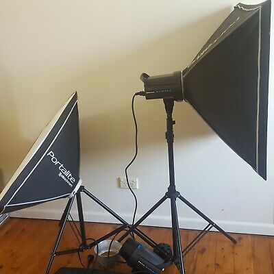elinchrom d lite photography studio flash lighting set and stands