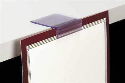 """Price Tag Label or Sign Holders for Wooden Shelves 3/4"""" to 1"""" Thick-10pcs"""