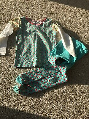 M&S Girls Top And Tights Age 2-3