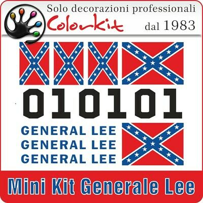 Kit adesivi GENERALE LEE per moto e scooter  - by Colorkit 000405