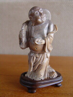 Antique/Vintage Soapstone Carving of a Chinese Immortal or Laughing Buddha