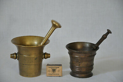 Mörser Alt Antik mit Pistill Stößel Apotheker Messing Bronze antique mortar
