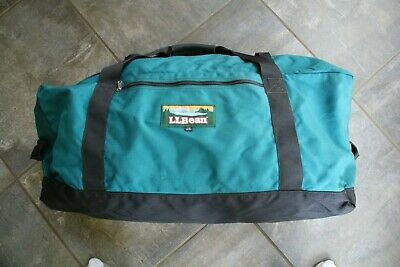 LL Bean Large Vintage Teal Duffle Bag Pre-Owned Used Once Excellent!