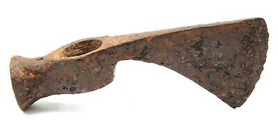 Ancient Rare Authentic Viking Kievan Rus Khazar Byzantin Iron Battle Axe 5-7 AD