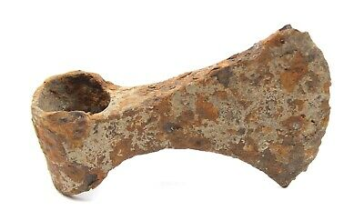 Ancient Rare Authentic Viking Kievan Rus Byzantine Iron Battle Axe 10-12th AD