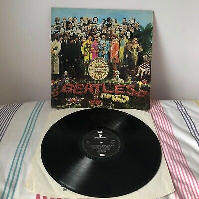 BEATLES Sgt Peppers LP Stereo UK 1976-1980 Near Mint Vinyl! Very Good Cover!